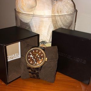 [Michael Kors] tortoise shell watch